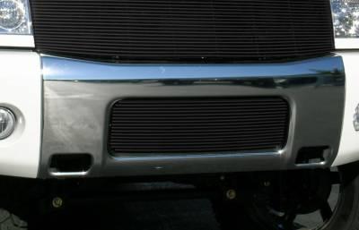 Billet Series Grilles - Nissan Titan Bumper Billet Grille Insert 16 Bars - All Black - Pt # 25780B
