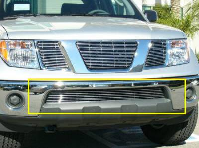 T-REX Grilles - 2005-2015 Frontier Billet Bumper Grille, Polished, 1 Pc, Bolt-On - PN #25789