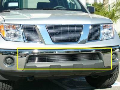 Billet Series Grilles - Nissan Frontier Bumper Billet Grille - Frontier w/ Chrome Bumpers 9 Bars - Pt # 25789