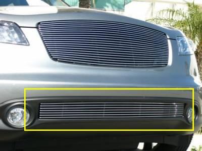 Billet Series Grilles - Infiniti FX Except road sensing cruise Bumper Billet Grille Insert 7 Bars Except road sensing cruise - Pt # 25792