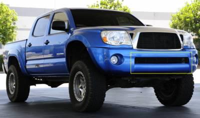 Billet Series Grilles - T-REX Toyota Tacoma Bumper Billet Grille Insert  6 Bars - All Black - Pt # 25895B