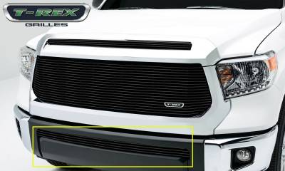 T-REX Grilles - Toyota Tundra  Billet Grille, Bumper, Overlay, 1 Pc, Black Powdercoated Aluminum Bars - Pt # 25964B