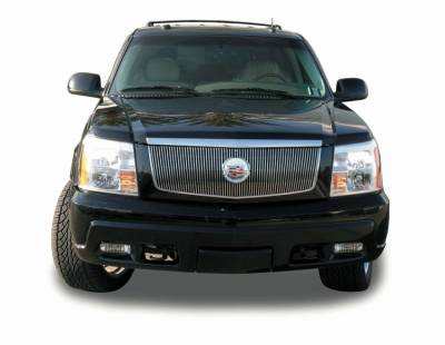 Billet Series Grilles - T-REX Cadillac Escalade, EXT, ESV VERTICAL Billet Grille Insert - w/Center Billet Logo Plate 64 Bars NEW DESIGN - Pt # 30184