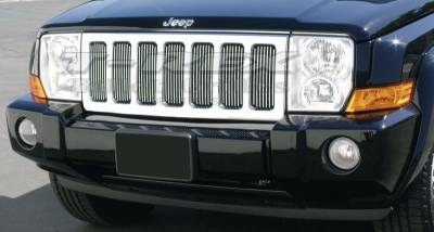 Billet Series Grilles - Jeep Commander VERTICAL Billet Grille Insert - Pt # 30485