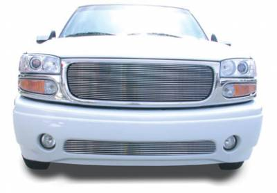 Billet Series Grilles - GMC Yukon Denali, 02-05 Sierra C3 VERTICAL Bumper Insert - Denali - Tow Hooks Must be Removed 75 Bars - Pt # 35179