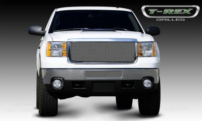 Sport Series Grilles - T-REX GMC Sierra HD Sport Series Formed Mesh Grille - Stainless Steel - Triple Chrome - Pt # 44209