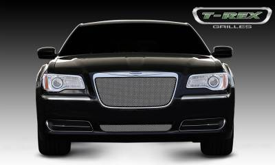 Sport Series Grilles - T-REX Chrysler 300 All Sport Series Formed Mesh Grille - Stainless Steel - Triple Chrome Plated - Installs into OE / factory chrome grille surround - Pt # 44433