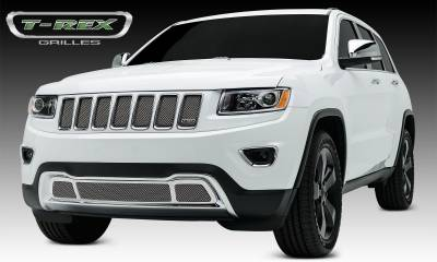 Sport Series Grilles - T-REX Jeep Grand Cherokee Sport Series Formed Mesh Grille - Stainless Steel - Triple Chrome Plated - 1Pc - Pt # 44488