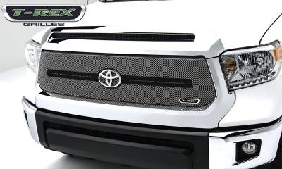 Sport Series Grilles - T-REX Grilles - Toyota Tundra  Sport Series, Formed Mesh, Main Grille With Logo Bar, Replacement, 1 Pc, Triple Chrome Plated Stainless Steel - Pt # 44964