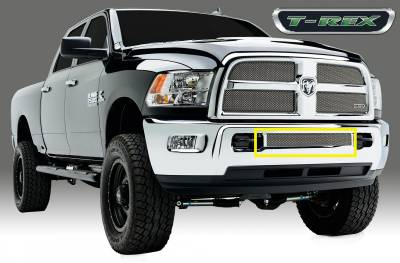 Sport Series Grilles - T-REX Dodge Ram PU 2500 / 3500 Sport Series, Mesh Grille, Bumper, Insert, 1 Pc, Triple Chromed Stainless Steel - Pt # 45452