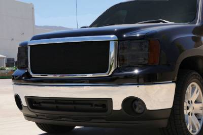 Sport Series Grilles - T-REX GMC Sierra HD Sport Series Formed Mesh Grille - ALL Black Powdercoat - Pt # 46206