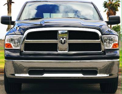Sport Series Grilles - T-REX Grilles - Dodge Ram PU 1500 Sport Series Formed Mesh Grille - ALL Black Powdercoat - 4 Pc - Pt # 46456