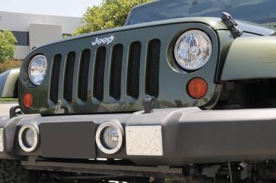 Sport Series Grilles - Jeep Wrangler - Sport Series - Formed Mesh Grille - Installs behind factory grille - Black - Pt # 46481