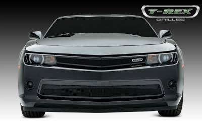 Upper Class Series Grilles - T-REX Chevrolet Camaro SS, RS, and LT -  Upper Class, Formed Mesh, Main Grille, Replacement, 1 Pc, Black Powdercoated Mild Steel - Pt # 51033