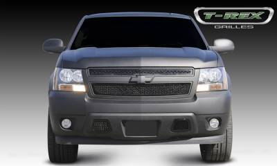 Upper Class Series Grilles - T-REX Chevrolet Tahoe, Suburban, Avalanche Upper Class Mesh Grille - All Black - 2 Pc Style - Pt # 51051