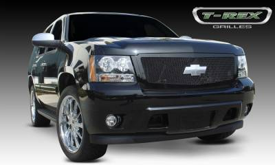 Upper Class Series Grilles - T-REX Chevrolet Tahoe, Suburban, Avalanche Upper Class Mesh Grille - All Black - 1 Pc Style Requires cutting factory bumper - Pt # 51052