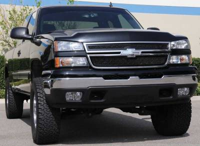Upper Class Series Grilles - T-REX Chevrolet Silverado Upper Class Mesh Grille - All Black - 2 Pc Style - Pt # 51106