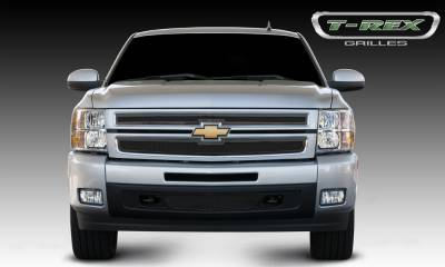 Upper Class Series Grilles - T-REX Chevrolet Silverado 1500 Upper Class Mesh Grille - All Black - 2 Pc Style - Pt # 51110