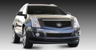 Upper Class Series Grilles - T-REX Cadillac SRX Upper Class Mesh Grille - Replacement - Full Opening - w/ Winged OE Logo Plate - Black - Pt # 51186