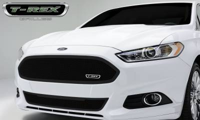 Upper Class Series Grilles - Ford Fusion Upper Class, Formed Mesh Grille, Full Opening Main, Replacement, 1 Pc, Black Powdercoated Mild Steel - Pt # 51532