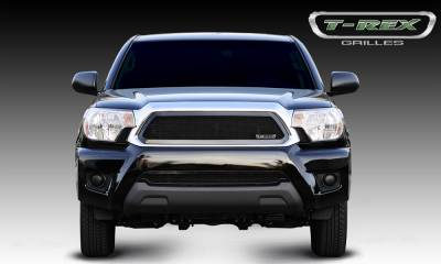 Upper Class Series Grilles - T-REX Grilles - Toyota Tacoma Upper Class Mesh Grille - All Black - Pt # 51938