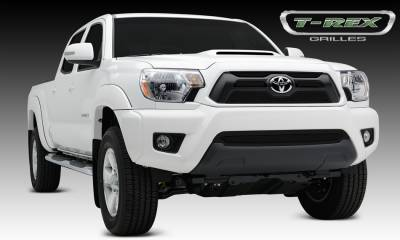 Upper Class Series Grilles - T-REX Toyota Tacoma Upper Class Mesh Grille Overlay/Bolt On - 4 Pc - All Black - Pt # 51940