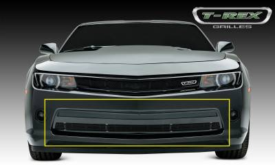 Upper Class Series Grilles - T-REX Chevrolet Camaro V6 Upper Class, Formed Mesh, Bumper Grille, Overlay, 1 Pc, Black Powdercoated Mild Steel - Pt # 52031