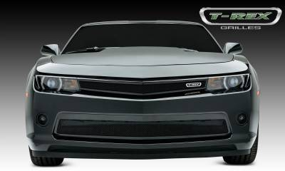 Upper Class Series Grilles - T-REX Grilles - Chevrolet Camaro RS Upper Class, Formed Mesh, Bumper Grille, Replacement, 1 Pc, Black Powdercoated Mild Steel - Pt # 52032