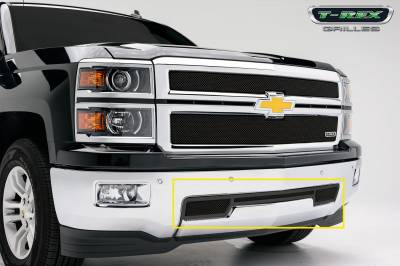 Clearance - T-REX Chevrolet Silverado Upper Class Bumper Mesh Grille - All Black - Pt # 52117