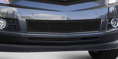 T-REX Grilles - 2010-2016 Cadillac SRX Upper Class Bumper Grille, Black, 1 Pc, Overlay,  3 Window Design - PN #52187