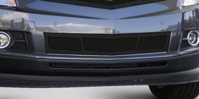 Upper Class Series Grilles - T-REX Cadillac SRX Upper Class Mesh Bumper Grille, Overlay, 3 Window Design, Black - Pt # 52187