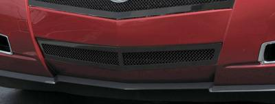 T-REX Grilles - Cadillac CTS Upper Class Bumper Mesh Grille Center Only - All Black - With Formed Mesh - Pt # 52197