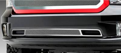 Upper Class Series Grilles - T-REX Grilles - Dodge Ram 1500 Upper Class, Formed Mesh Grille, Bumper, Overlay, 1 Pc, Black Powder Coated Mild Steel - Pt # 52458