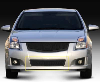 T-REX Grilles - Nissan Sentra 2.0 SR, SE-R Upper ClassMesh Bumper - All Black - Pt # 52764