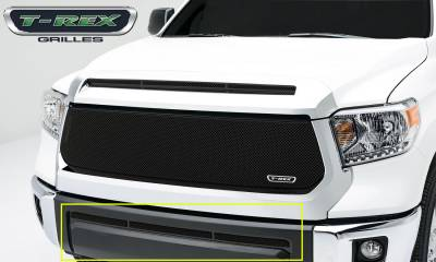 T-REX Grilles - Toyota Tundra  Upper Class, Formed Mesh, Bumper Grille, Overlay, 1 Pc, Black Powdercoated Mild Steel - Pt # 52964
