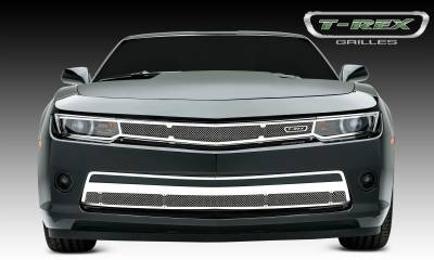 Upper Class Series Grilles - T-REX Chevrolet Camaro (ALL) Upper Class, Formed Mesh, Main Grille Head Light Trim, Overlay, 1 Pc, Polished Stainless Steel - Pt # 54031
