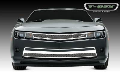Upper Class Series Grilles - T-REX Chevrolet Camaro (ALL) Upper Class, Formed Mesh, Main Grille Flushed W/Headlights, Overlay, 1 Pc, Polished Stainless Steel - Pt # 54032