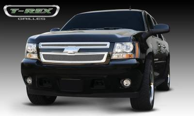 T-REX Grilles - 2007-2013 Avalanche, 07-14 Sub/Tahoe Upper Class Grille, Polished, 2 Pc, Overlay - PN #54051