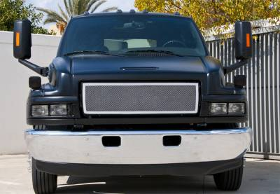 Upper Class Series Grilles - T-REX Chevrolet Kodiak  Upper Class Polished Stainless Mesh Grille - 1 Pc Style - Pt # 54087