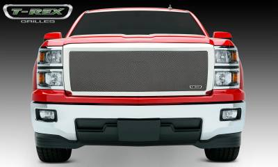 Upper Class Series Grilles - T-REX Chevrolet Silverado Upper Class Mesh Grille - Polished-  Full Opening Main, Replacement, 1 Pc - Pt # 54119