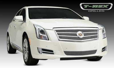 T-REX Grilles - Cadillac XTS Upper Class, Formed Mesh Grille, Main, 2 Bars, Overlay, 1 Pc, Polished Stainless Steel Will not fit Platinum Edition. - Pt # 54174