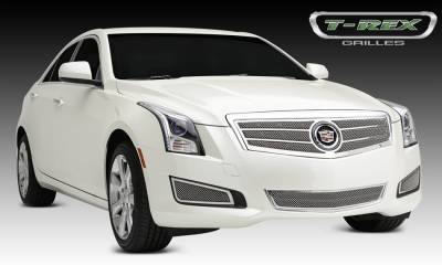 T-REX Grilles - Cadillac ATS Upper Class Formed Mesh Grille, Main, Overlay, 1 Pc, Polished Stainless Steel Will not fit Platinum Edition. - Pt # 54177
