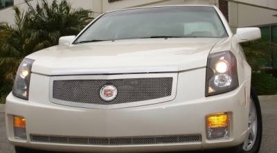 Upper Class Series Grilles - T-REX Cadillac CTS Upper Class Polished Stainless Mesh Grille with Recessed Logo Area - Includes Polished Logo Plate to Re-Install OE Cadillac Grille Emblems - Pt # 54190