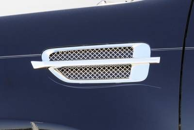Emblems, Logoz and DIY Components - Side Vents and Accessories - Cadillac Escalade, EXT, ESV Side Vent Mesh - Polished Stainless Steel - Mesh Inserts install into OE Side Vent Housings - 2 Pc Includes Black backing plates - Pt # 54199