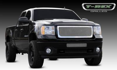 T-REX Grilles - GMC Sierra HD Upper Class Polished Stainless Mesh Grille - Pt # 54209