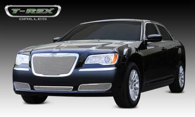 Upper Class Series Grilles - T-REX Grilles - Chrysler 300 All Upper Class Polished Stainless Mesh Grille - With Formed Mesh Center - OE Logo installs on top of grille - Pt # 54433