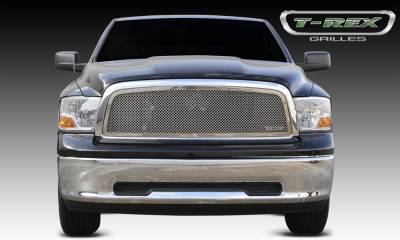 Upper Class Series Grilles - Dodge Ram PU 1500 Upper Class Polished Stainless Mesh Grille - 1 Pc Full Open Requires cutting factory cross bars in OE grille - Pt # 54457