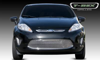 T-REX Grilles - 2011-2013 Ford Fiesta SE, SEL Upper Class Grille, Polished, 2 Pc, Overlay - PN #54588