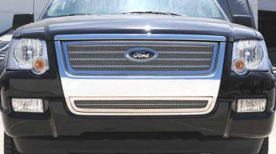 T-REX Grilles - 2006-2010 Explorer XLT, Limited Upper Class Grille, Polished, 1 Pc, Overlay - PN #54659