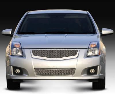 T-REX Grilles - Nissan Sentra 2.0 SR, SE-R Upper Class Mesh Grille fits vehicles w/ Sport Grille and Sport fascia - Pt # 54764